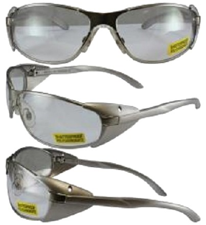 Global Vision Eyewear Supra Clear Lens, Lightweight Metal Frame with Side Protection Wings