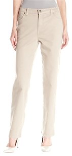 Gloria Vanderbilt Straight Pants Beige / Black