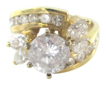 Gold 14kt Solid Yellow Diamond 230 Carat Wedding Band Solitaire 7