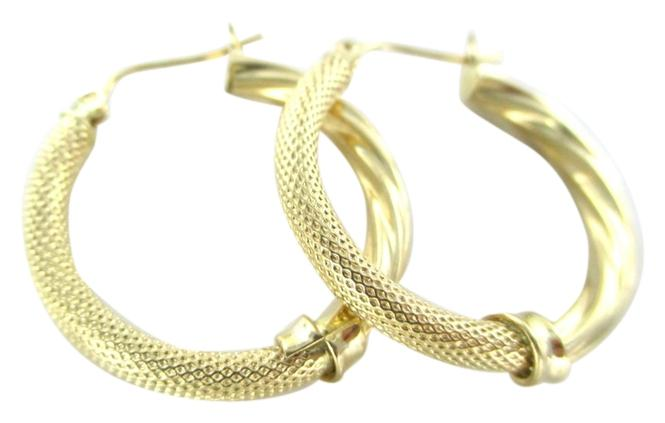 Gold 14kt Yellow Hoop Cool Design Fine 24 Grams Mothers Day