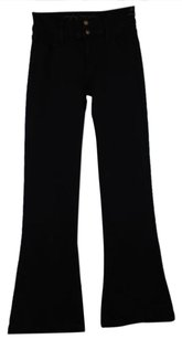Goldsign Womens Solid Flare Leg Trousers Blend Pants