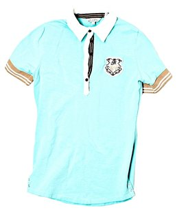 Goode Rider Preppy Casual Polo T Shirt Blue