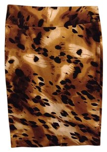 Grace Elements Pencil Stretchy Skirt Animal Leopard Spot Black Tank White Print Pattern