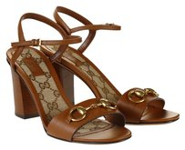 Gucci Sandal T-strap Brown Leather Sandals