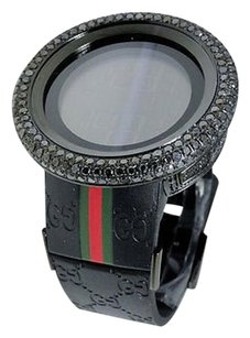 Gucci 17 Ct Big Mens I Gucci Digital Black Diamond Watch Ya114207