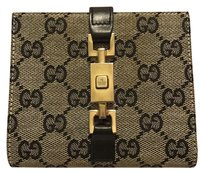 Gucci Authentic Gucci Bifolf Wallet With Classic GG Monogram Canvas