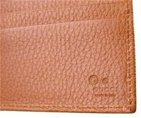 Gucci Authentic GUCCI Mens Leather Wallet w/ID Window,Brown