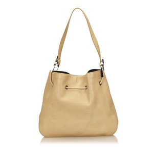 Gucci Beige Brown Leather Shoulder Bag