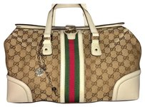 Gucci Beige/white Travel Bag