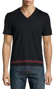 Gucci Men V-neck T Shirt Black