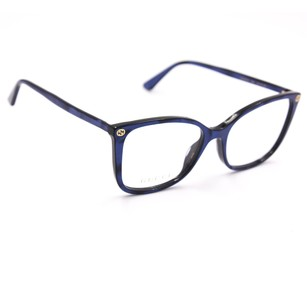 Gucci Gucci 0026O Cat Eye Eyeglasses Pearled Blue Frame