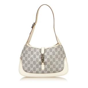 Gucci Blue Fabric Ivory Shoulder Bag