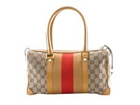 Gucci Boston Satchel in Beige