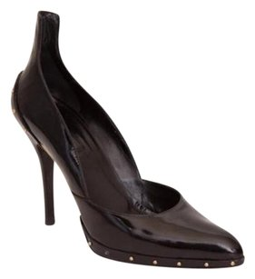 Gucci Womens Patent Black Pumps