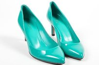 Gucci Spring Water Teal Blue Pumps