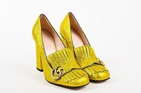 Gucci Yellow Metallic Gold Pumps