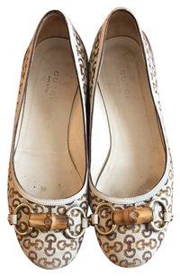 Gucci Cream And Beige Flats