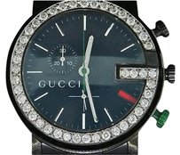Gucci Diamond Gucci Ya101331 Watch Ct. Customs Mens 101 G Black Pvd 44mm Face