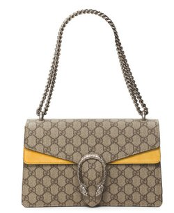 Gucci Dionysus Gg Canvas Yellow Shoulder Bag