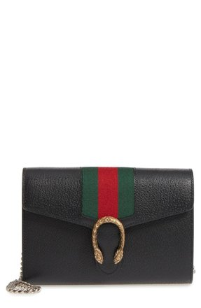 14c6590c9597 Gucci Dionysus Web Stripe Leather Wallet On A Chain | Stanford ...