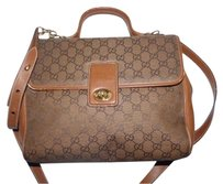 Gucci Doctor's Rare Style Early High-end Bohemian Two-way Style Satchel in shades of brown