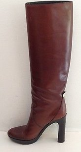 Gucci Leather Knee High Brown Boots