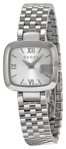 Gucci G- Silver Dial Stainless Steel Ladies Watch YA125517
