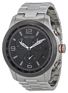 Gucci G-timeless Grey Dial Stainless Steel Men's Watch