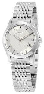 Gucci G Timeless Ladies Watch Stainless Steel with a Silver Dial