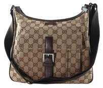 Gucci Gg Pattern Canvas Cross Body Bag
