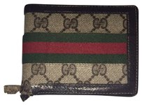 Gucci GGSL88 Gucci Monogram Red Green Wallet