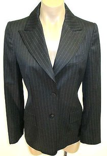 Gucci Striped Charcoal Stretch Lana Wool Blend Gray Jacket