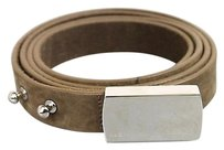 Gucci Gucci Belt Wengraved Logo Plaque Buckle Brown 90/36 251633 2814