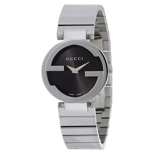 Gucci Gucci Black Dial Stainless Steel Ladies Watch