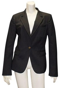 Gucci Gucci Black Wool Blend Pinstripe Button Front Blazer Jacket Coat Hs1973