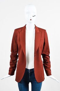 Gucci Gucci Brick Red Wool Long Sleeve Blazer Jacket