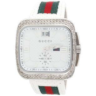 Gucci Gucci Coupe Mens Diamond Sports Watch Red Green Flag Band Ct. Ya131303