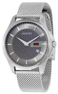 Gucci GUCCI G Timeless Anthracite Dial Stainless Steel Men's Watch YA126315