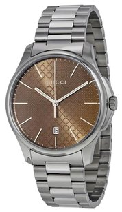 Gucci GUCCI G-Timeless Brown Dial Stainless Steel Men's Watch YA126317