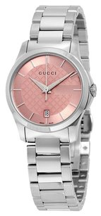 Gucci GUCCI G-Timeless Pink Dial Stainless Steel Ladies Watch YA126524