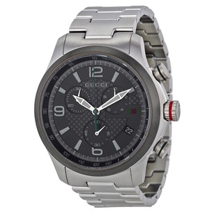 Gucci Gucci Grey Dial Stainless Steel Mens Watch