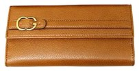 Gucci Gucci Leather Clutch Continental Wallet Wcoin Pocket Brown 270002