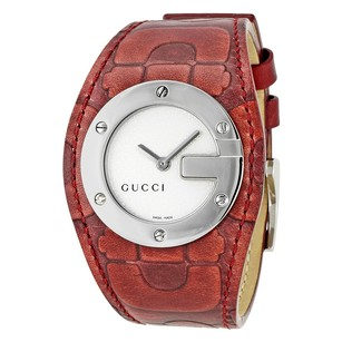 Gucci Gucci Silver Dial Leather Strap Ladies Watch