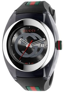Gucci Gucci SYNC XXL YA137101 Stainless Steel Watch with Black Rubber