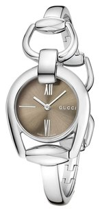 Gucci Gucci Women's YA139501 Gucci Horsebit Collection Analog Display Swiss Quartz Silver-Tone Watch