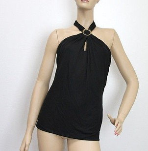 Gucci Whorse Heads Black Halter Top