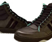 Gucci Hi Top Black/turquoise Athletic
