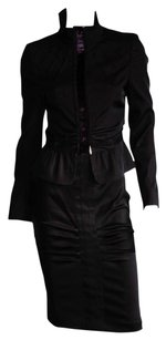 Gucci Iconic Tom Ford FW 2004 Ruched Runway Jacket & Skirt! IT42