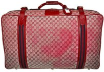 Gucci Italy Red Travel Bag