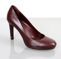 Gucci Leather Platform 296091 Burgundy Pumps